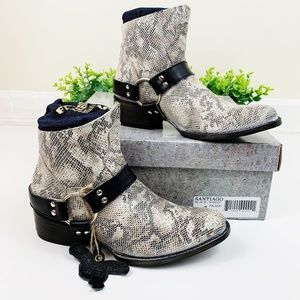 Freebird NWT Santiago Snake Ankle Boots Booties